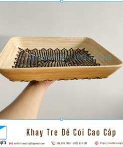Khay Tre Day Coi Tu Nhien Khay Trang Tri De Trai Cay bang Tre Ep va Coi Khay Go Decor 36x30x6 10 noithatsangtao2t
