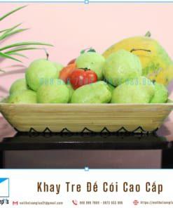 Khay Tre Day Coi Tu Nhien Khay Trang Tri De Trai Cay bang Tre Ep va Coi Khay Go Decor 36x30x6 2 noithatsangtao2t