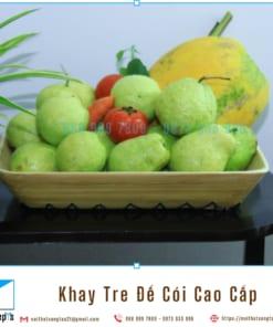 Khay Tre Day Coi Tu Nhien Khay Trang Tri De Trai Cay bang Tre Ep va Coi Khay Go Decor 36x30x6 4 noithatsangtao2t